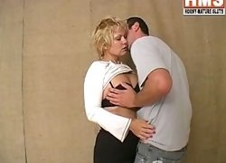 Blonde mature slut getting some cock